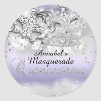 Purple Sparkle Masquerade Quinceanera Sticker