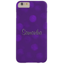 Purple Sparkle Personalized Barely There iPhone 6 Plus Case