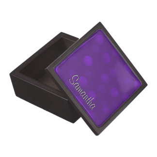 Purple Sparkle Personalized Gift Box