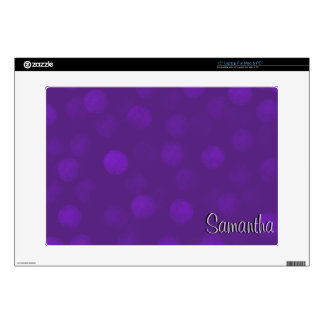 Purple Sparkle Personalized Laptop Skin