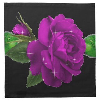 Purple Sparkle Rose American MoJo Napkin