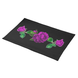 Purple Sparkle Rose American MoJo Placemat