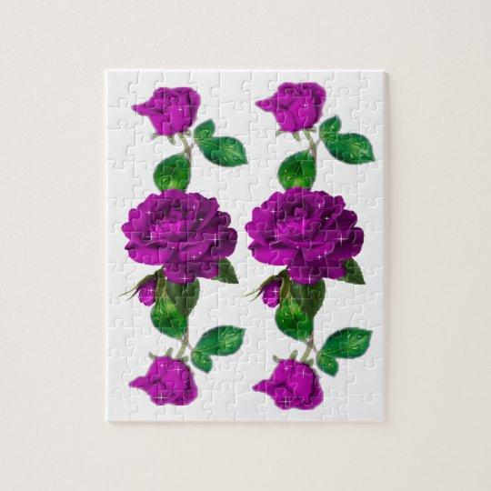 Purple Sparkle Rose Puzzle
