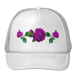 Purple Sparkle Rose Trucker Hat