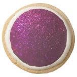 Purple Sparkle Round Premium Shortbread Cookie