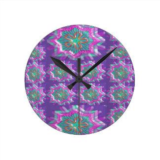 PURPLE Sparkle Star Pattern Goodluck Holy fun GIFT Clocks
