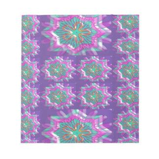 PURPLE Sparkle Star Pattern Goodluck Holy fun GIFT Scratch Pad