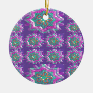 PURPLE Sparkle Star Pattern Goodluck Holy fun GIFT Christmas Tree Ornaments