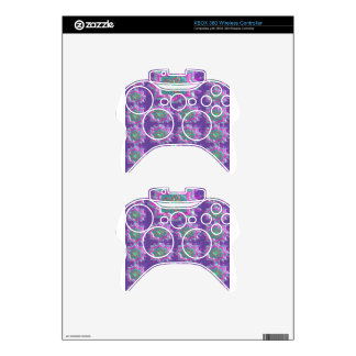 PURPLE Sparkle Star Pattern Goodluck Holy fun GIFT Xbox 360 Controller Skins