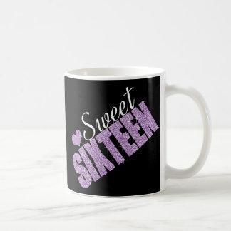 Purple Sparkle Sweet 16 Coffee Mug