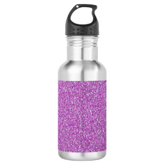 Purple Sparkles Background Add Your Own Water Bottle