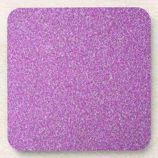 Purple Sparkles Base Add Your Own Beverage Coaster