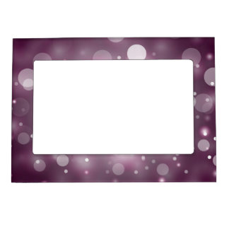 Purple Sparkles Light Design Magnetic Photo Frame