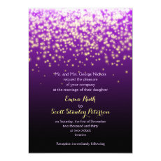 Purple sparkling lights in the sky wedding 5