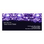 Purple Sparkling Stars Invitation