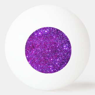 Purple Sparkly Glam Glittery Girly Ping Pong Ping-Pong Ball