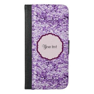 Purple Sparkly Glitter iPhone 6/6s Plus Wallet Case