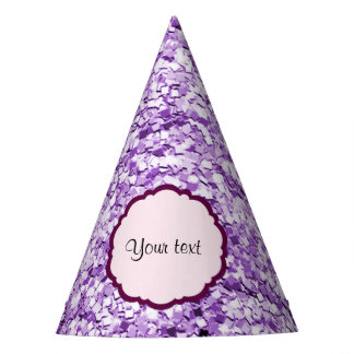 Purple Sparkly Glitter Party Hat