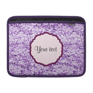 Purple Sparkly Glitter Sleeves For MacBook Air