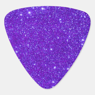 Purple Sparkly Glitter Sparkle Girly Guitar Pick