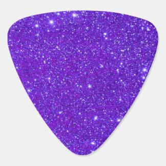 Purple Sparkly Glitter Sparkle Girly Guitar Pick
