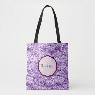 Purple Sparkly Glitter Tote Bag