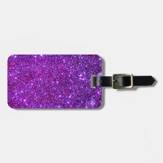 Purple Sparkly Sparkle Glittery Glam CricketDiane Luggage Tag