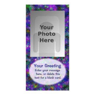 Purple Spatter Dot Vertical PhotoCard Template