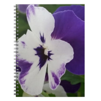 Purple Speckled Blossom Notebook (80 Pages B&W)