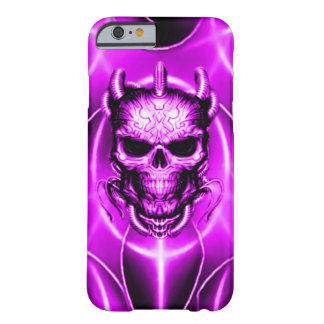 Purple Spectral Skull Barely There iPhone 6 Case
