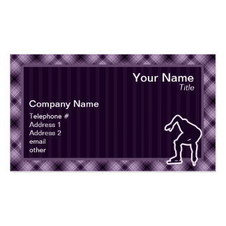 Purple Speed Skater Business Card