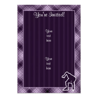Purple Speed Skater Card