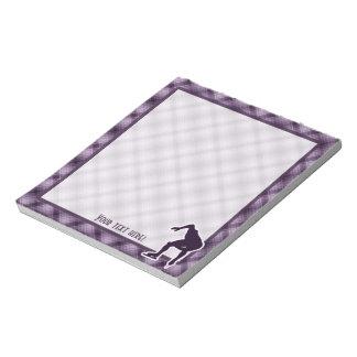 Purple Speed Skater Notepad