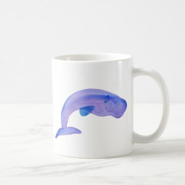 Beach Themed Purple Sperm Whale Coffee Mug
