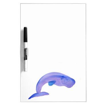 Beach Themed Purple Sperm Whale Dry-Erase Board