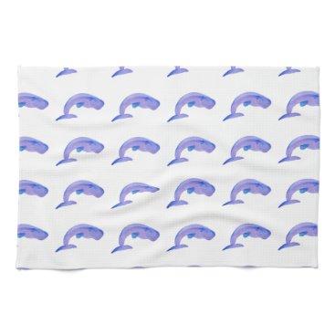 Beach Themed Purple Sperm Whale Hand Towels