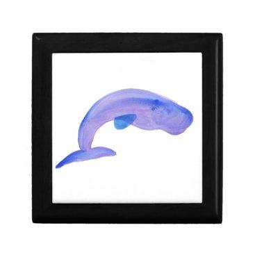 Beach Themed Purple Sperm Whale Keepsake Box