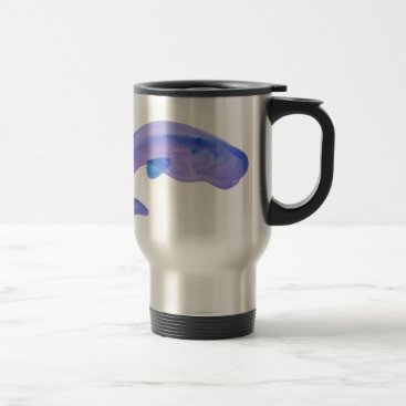 Beach Themed Purple Sperm Whale Travel Mug