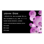 Purple Sphere Accent Business Card