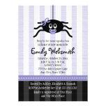 Purple Spider Halloween Baby Shower Invitations