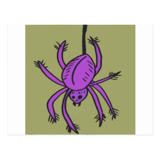 Purple Spider Postcard