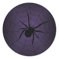 Purple Spider Web Halloween Stickers
