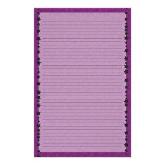 Purple Spiderweb Lined Stationery