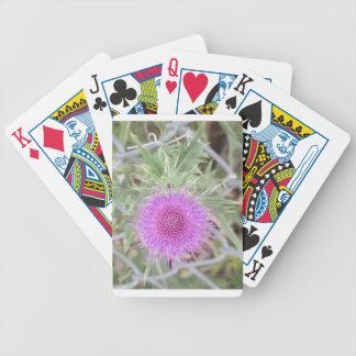 Purple spike bicycle card decks