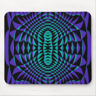 Purple spiked abstract mouse pad