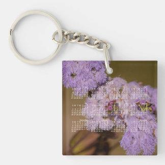 Purple Spiky Flower; 2013 Calendar Keychain
