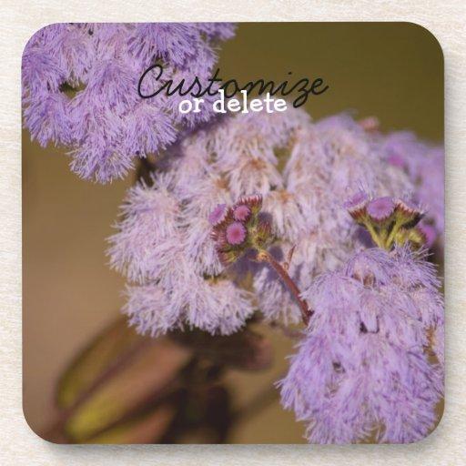 Purple Spiky Flower; Customizable Coasters