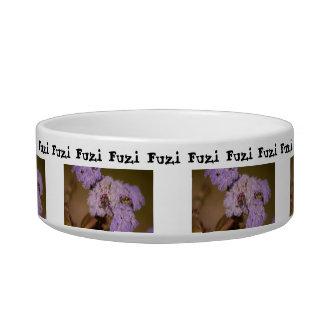 Purple Spiky Flower; Customizable Pet Water Bowl