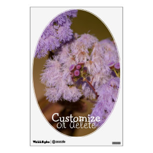 Purple Spiky Flower Customizable Wall Sticker
