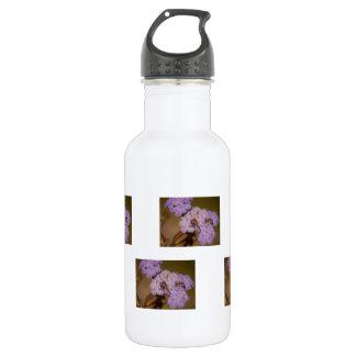 Purple Spiky Flower; No Text Water Bottle